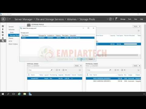 How to Create a Mirrored Storage Space in windows server 2016 (HINDI)