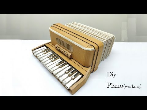 How to Make A Piano Harmonium from Cardboard