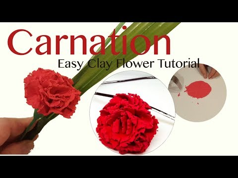 How to Make Carnation Clay Flower