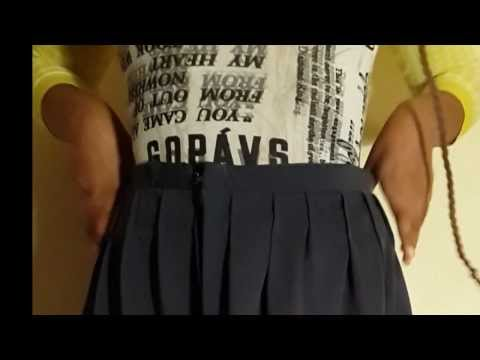 How to make a pleated skirt/dress,easy steps