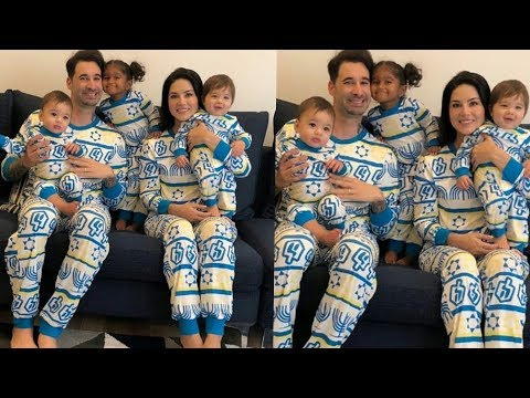 Xxx Mp4 Sunny Leone Shared A Lovely Moment With Her 3 Kids And Hubby Daneil In Same Dress So Cute 😍 3gp Sex