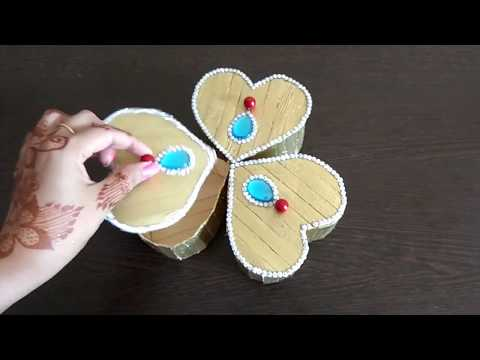 DIY | Popsicle Craft | Dry Fruit Box with Ice cream stick for Diwali | Jewellery box | Storage box