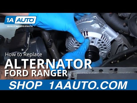 How to Install Replace Alternator 2001 Ford Ranger 4.0L V6