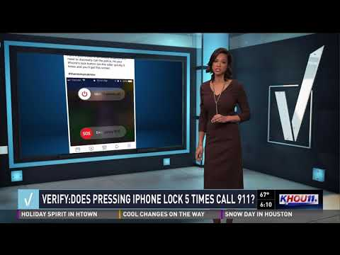 VERIFY: Does pressing the iPhone lock 5 times call 911?