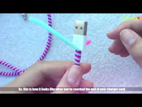 Charger Cable Protector Tutorial ❁ // MJ Silvestre