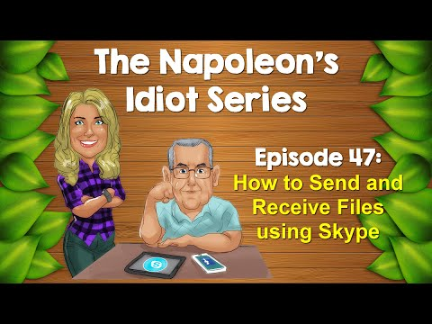 Send and Receive Files using Skype (2016)