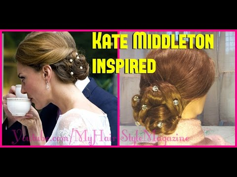 Kate Middleton Inspired Hairstyle for Long Hair Tutorial