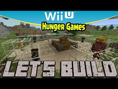 Minecraft Wii U - Hunger Games Let's Build!  (How To Make Hunger Games World)