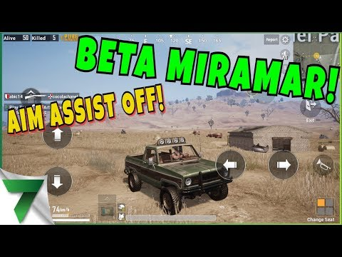 NEW MAP BETA FIRST GAME! AIM ASSIST OFF!!   PUBG MOBILE