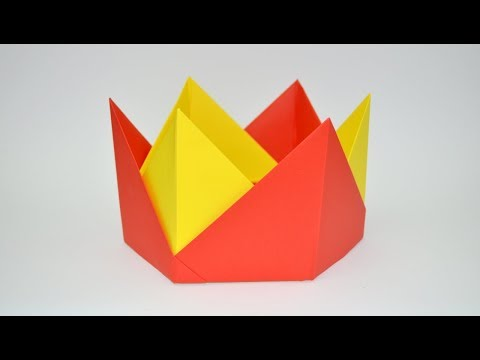 how to make paper crown - origami