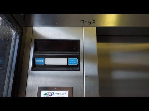 AMAZING Dover Hydraulic Elevator @ Chapel Hill Parking Deck, Chapel Hill, NC, USA.