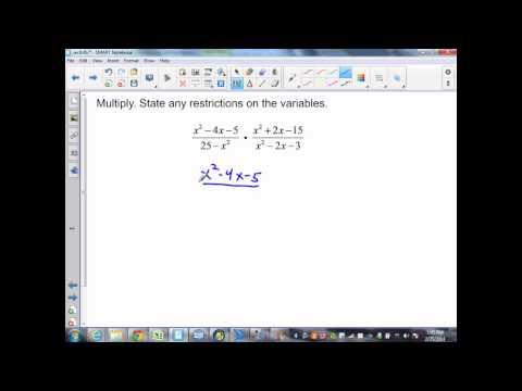 sec9 4 Part 2 Alg II multiplying rational expressions