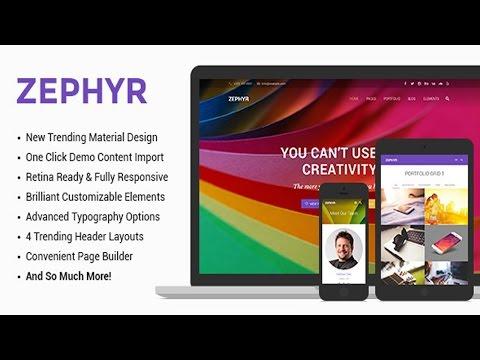 Zephyr | Material Design Theme v1.0.5