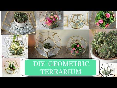Easy DIY Geometric Terrarium 🌵❤️   Tabletop Miniature Garden