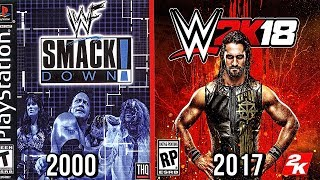 The Evolution Of WWE Games Covers! ( WWF Smackdown To WWE 2K18 )