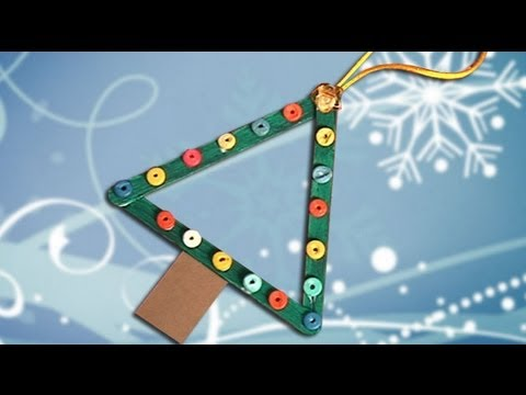 How to make an easy christmas tree. Handcrafts for kids