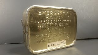 1942 British Emergency Ration MRE Review Eating a 75 Year Old Survival Chocolate Bar Taste Test