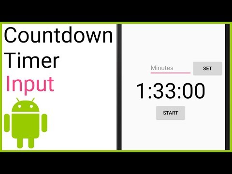 Countdown Timer Part 4 - ENTER A TIME - Android Studio Tutorial