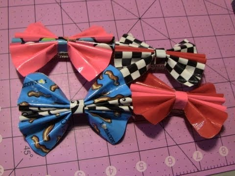 How to make Duct tape Bow hair clips!