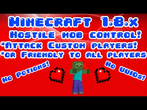 minecraft Concept: Control who a mob attacks in vanilla! (Mob control without splash potions)