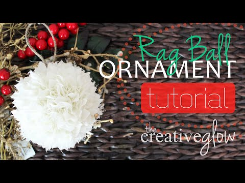 Rag Ball Tree Ornament Tutorial - Cute and Elegant
