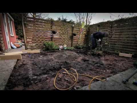Garden makeover using artificial grass 2013