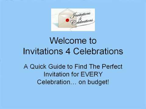 Invitations 4 Celebrations