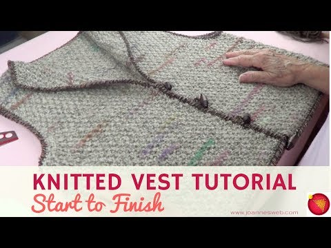 Knitted Vest Start to Finish - Vest Tutorial Knitting - How To Knit A Vest