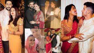 All Bollywood Wife's KARWAAH CHAUDH 2019 Wid Husbands-Priyanka-Nick,Aishwarya,Preity,Anushka,Bipasha