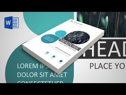 Blue Creative Cover Page Creation MS Word 2016 Tutorial