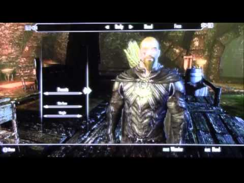 How to change your characters apearance in Skyrim
