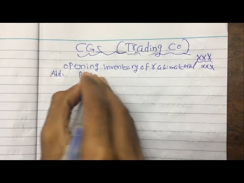 How to Calculate Cost of Goods Sold (COGS) for Trading Company By Sir. M Umer