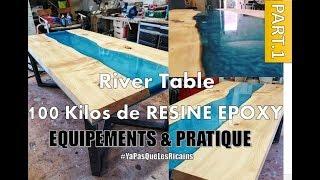 Table Rivière Avec Résine époxy Et Poudre De Nacre Watch Online