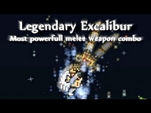 Terraria - Best weapon combo: Legendary Excalibur + Hallowed armor