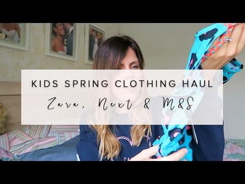 SPRING KIDS (BOYS & GIRLS)  CLOTHING HAUL- NEXT, ZARA & M & S