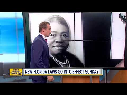 New Florida laws that go into effect Sunday