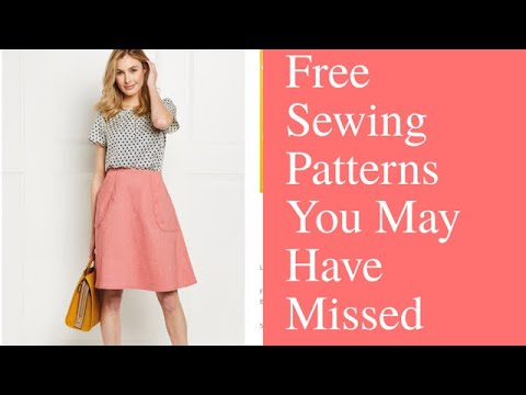 Free PDF Sewing Patterns You May Have Missed