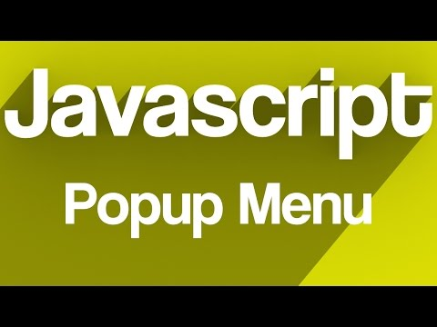How to make: CSS/Javascript Popup Menu