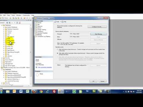 How to configure database mirroring in sql server.mp4
