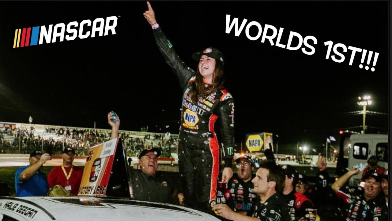HAILIE DEEGAN MAKES HISTORY!!! First female to WIN a NASCAR pro series race!