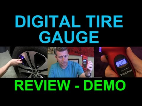 Tekton Digital Tire Pressure Gauge LED Light Review Demo Simple Easy to Use