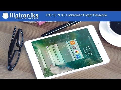 IOS 10 / 9.3.5 Lockscreen Forgot Passcode Bypass for Iphone / Ipad - Fliptroniks.com