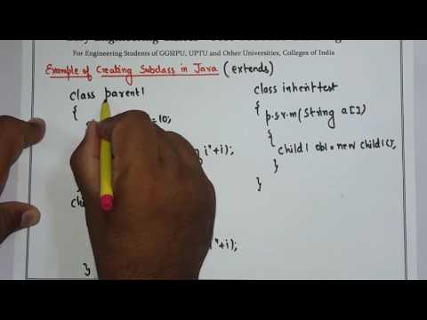 Introduction of Inheritance in Java with Example - IP University Syllabus