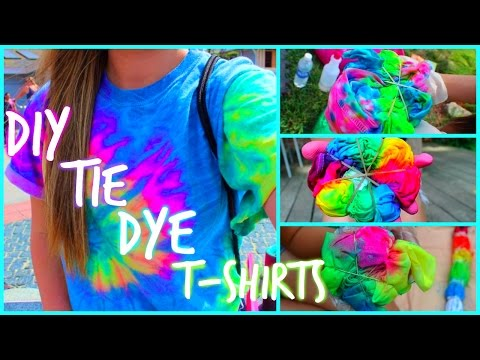 DIY Tie Dye T-Shirts