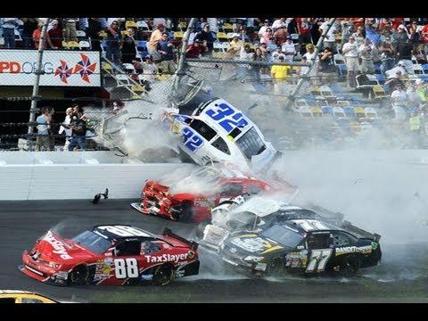 Huge wreck injures fans on last lap of  race at Daytona - NASCAR News   FOX Sports on MSN.mp4
