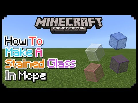 HOW TO MAKE A STAINED GLASS IN MCPE 1.1 | MCPE CREATION | NO MODS
