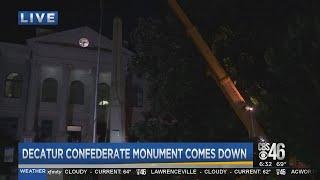 Confederate statue removed in Decatur