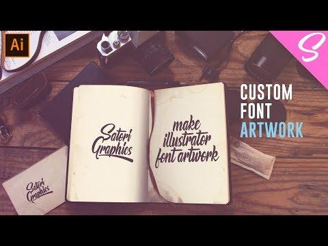 BEST WAYS To Make Artwork For Your Font - Illustrator Typography Tutorial