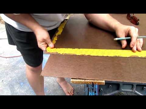 How to put up FashionWall  Smooth Brown Tempered Hardboard Wall Panel with David