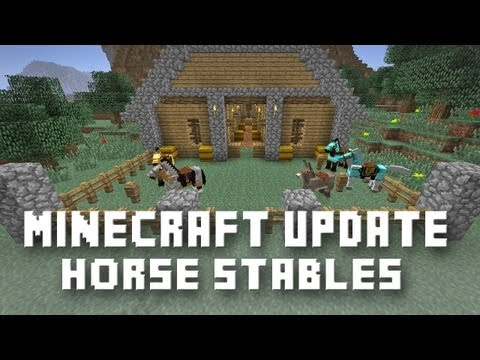 Minecraft:   Horses, Armor, Saddle And Stables    (Snapshot 13w16a)